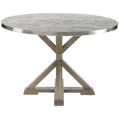 Bernhardt Interiors Stockton Round Metal Dining Table 326-262, 326-263