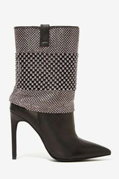 Jeffrey Campbell Fluidity Studded Leather Boot #boots #booties #heels #shoes