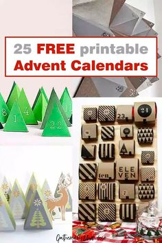 The best free printable advent calendar to countdown to days until Christmas. Jazz up you holiday decor with one of these free prints. #free #download #calendar