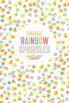 Learn how to make these EASY homemade rainbow sprinkles! Perfect way to turn any baked creation into a colorful treat! Rainbow Cake Pops, Rainbow Sprinkles, Homemade Birthday, Diy Birthday, 10th Birthday, Birthday Ideas, Cake Decorating Tutorials, Cookie Decorating, Decorating Ideas