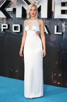 See Jennifer Lawrence wearing the Jimmy Choo Pearl sandal at the 'X-Men Apocalypse' Premiere in London