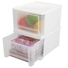 Wayfair Basics Stackable Storage Drawers & Reviews   Wayfair 3 Drawer Storage, Storage Cart, Drawer Unit, Small Storage, Drawer Handles, Drawer Fronts, Storage Spaces, Plastic Drawers, Plastic Bins