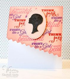 Handmade breast cancer awareness card by Chaitali Narla using Pink Power from Verve. Breast Cancer Survivor, Breast Cancer Awareness, The Verve, Pink Power, October 2014, Things To Think About, Paper Crafts, Easter, Stamp