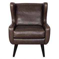 Bradley Leather Armchair -Grey