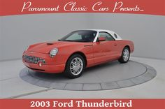 """2003 #Ford #Thunderbird Limited Edition 007 #186 of 700, Coral, Limited Edition """"007"""" Ford Thunderbird commemorates the first appearance of a Thunderbird in the 40-year history of the James Bond film franchise. The """"007"""" edition has a unique white leather interior and a distinctive Coral paint scheme to match the Thunderbird driven in the Bond film """"Die Another Day"""" by Academy Award-winning actress Halle Berry, Sold!"""