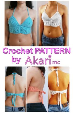 PATTERN Halter top with granny squares crochet by AKARImcPatterns