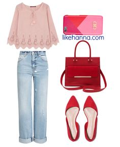 Cute everyday outfit pink and red (outfit details at link)