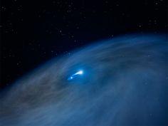 Image: Mass Star and Smaller Companion Create Vast Gas Disk (Artist's Illustration)