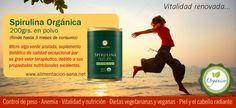 Spirulina Orgánica, super alimento con proteínas y nutrientes esenciales. #vegano #vegetariano #proteína #spirulina #organico