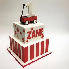 Red Wagon Cake