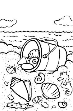 Sea Shell Coloring Book Elegant the Beach Coloring Pages – Lagunapaper Beach Coloring Pages, Animal Coloring Pages, Coloring Book Pages, Coloring Pages For Kids, Summer Coloring Sheets, Kids Coloring, Free Printable Coloring Pages, Free Printables, Ocean Crafts