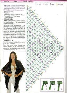Free Shawl Crochet Patterns - Beautiful Crochet Patterns and Knitting Patterns Crochet Shawl Diagram, Poncho Au Crochet, Mode Crochet, Crochet Shawls And Wraps, Crochet Chart, Knitted Shawls, Crochet Scarves, Crochet Clothes, Crochet Stitches