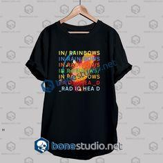 1df5dd462 Radiohead In Rainbow Band T Shirt - Adult Unisex Size S-3XL. CamisetasBanda  PanteraCamiseta ...