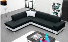 Sofá rinconera cama con cojines - Barbados - Don Baraton: tienda de sofás, colchones y muebles Sofa Set Designs, Modern Sofa Designs, Sofa Layout, Corner Sofa Design, Living Room Sofa Design, Moderne Couch, Sofa Styling, Couch Cushions, Sofa Upholstery