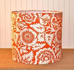 Juicy Orange Drum Lampshade by Sassyshades on Etsy, $65.00