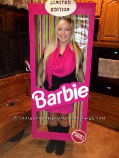 cool homemade barbie in a box costume - Halloween Box Costumes