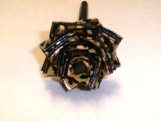 Black & Cheetah Duct Tape Flower Pen by FlowerPensAndMore on Etsy, $6.99