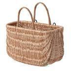 18W x 9.2D x 10.2H Wicker Shopping Basket, Bike Basket, Beige/Ivory