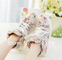 New 2014 spring fashion women high canvas shoes woman height Increasing platform shoe women sneakers