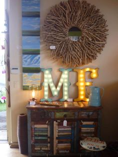 LARGE Wood Letter Lighted Marquee Sign...........  A B C D E F G H I J K L M N O P Q R S T U V W X Y Z by JunkArtGypsyz on Etsy https://www.etsy.com/listing/245058663/large-wood-letter-lighted-marquee-sign-a