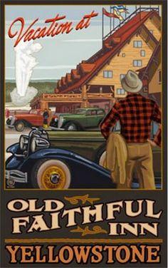 "Northwest Art Mall 11 x 17"" Poster Old Faithful Inn Yellowstone by Paul A…"