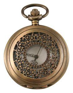 Filigree Pocket Watch - Antique Gold Finish