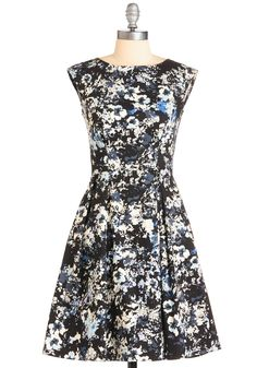 Dance in the Park Dress. Twirl your way down blossom-trimmed pathways in this uniquely charming black frock by British cult brand Motel. #black #modcloth