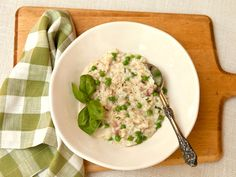 Risotto with Spring Peas, Ham, and Fontina Cheese | Serious Eats : Recipes
