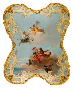 Giambattista Tiepolo, Virtue and Nobility Crowning Love about 1759–61 on ArtStack #giambattista-tiepolo #art
