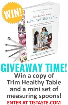 Enter to win a copy of Trim Healthy Mama's new cookbook Trim Healthy Table plus a set of mini stainless steel measuring spoons! New Cookbooks, Giveaway, Healthy, Mini