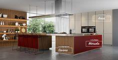 Cozinha composta por três padrões de MDF: Marsala, Savana e Areia. #MDF #decoraçãoMDF #decoração #DesignInteriores #padrõesMDF #homedecor #decoração #cozinha #peçasMDF