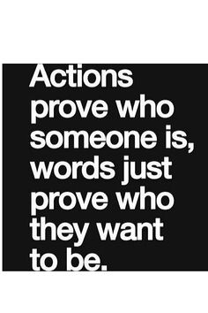 #actions #words