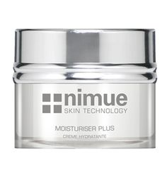 Environmentally Damaged Range Product 4: Moisturiser Plus. A night cream with a creamy aspect for hydration and rejuvenation. Contains Alpha Hydroxy Acids, Vitamin A, C & E Ester.50ml. Nimue Skin Technology.