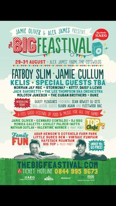 Squeaky Green is attending the Big Feastival in Chipping Norton Family festival fun Laura Mvula, Jamie Cullum, Festival Posters, Jamie Oliver, Food Festival, Special Guest, Orchestra, Jukebox, Posters