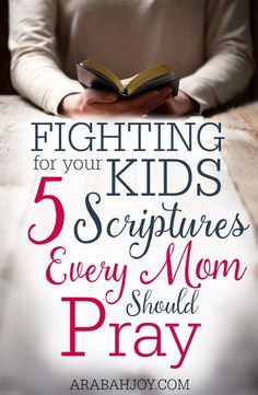 Fighting for your kids - 5 Scriptures every mom should pray. I'm never t a mom but I pray that God will protect my 3 little sweet angels. Prayer For My Children, Prayer For You, My Prayer, Prayers For Kids, Prayer Closet, Prayer Room, Prayer Scriptures, Bible Prayers, Scriptures For Kids