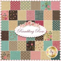 Rambling Rose By Sandy Gervais For Moda Fabrics - Charm Pack: Rambling Rose by Sandy Gervais for Moda Fabrics. 100% cotton. This charm pack contains 42 squares, each measuring 5