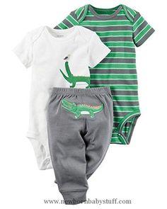 Baby Boy Clothes Carter's Baby Boys' 3 Piece Take Me Away Set (18 months, alligator)