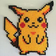 Pikachu hama beads by chriscrea90