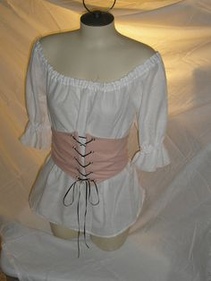 Lovely Romantic Renaissance Medevil Costume by Designsbylael, $20.99.      Love this shirt style!!