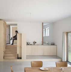 Image 9 of 17 from gallery of JJ&S.M Houses / Atelier Mima. Courtesy of Atelier Mima Unique Home Decor, Cheap Home Decor, Interior Design Tips, Interior Decorating, Interior Paint, Exterior Design, Small Apartments, Small Spaces, Kitchen Interior