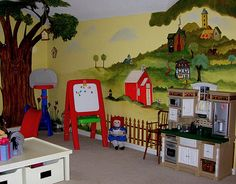 Cozy Village Playroom Designed By~ goosebumpfactor.blogspot.com