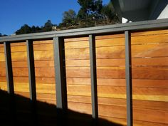 Pressure Treated Frame - Natural Redwood Horizontal Fence - Hollywood, Ca 90038 Brick Fence, Concrete Fence, Front Yard Fence, Farm Fence, Fenced In Yard, Wood Fences, Pallet Fence, Fence Art, Fence Landscaping