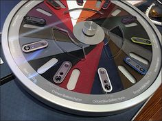 Motorola® designed this Roulette-Wheel Color Picker in such a sophisticated manner I could not divine all its functions. Yes it spins to align metallic case colors with Nylon samples, and offered a. Color Picker, Manners, Poker Table, Carousel, Metallic, Retail, Display, Colors, Design