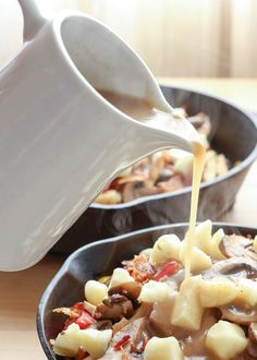 Perfect Brown Gravy Sauce recipe for Poutine, Potatoes, and Meats by Barefeet In The Kitchen