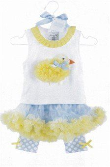 Mud Pie Baby-girls Infant Chiffon Chick Pettiskirt Set
