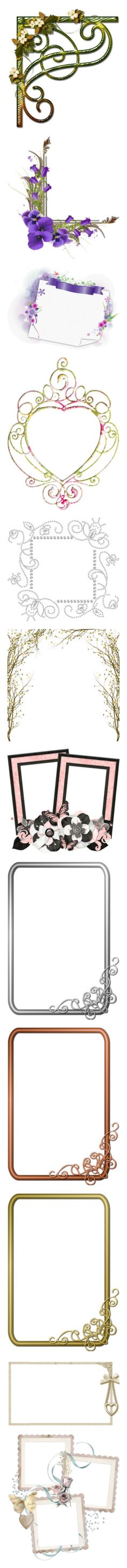 """""""Frames"""" by lokisbooksnmore ❤ liked on Polyvore featuring corners, frames, borders, backgrounds, art, filler, picture frame, flowers, fillers and hearts"""