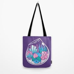 Bulbasaur Terrarium Tote Bag - $22 - Gifts for Pokemon Fans!
