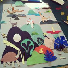 Paper collage Veronique Joffre