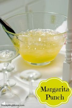 Margarita Punch is so easy to make with only 5 ingredients and it is non-alcoholic!