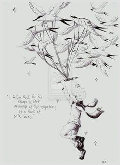 """""""Creo que el principito aprovechó la migración de una bandada de pájaros silvestres para su evasión..."""""""
